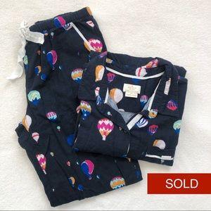 SOLDKate Spade Hot Air Balloon 2pc Flannel Pajamas